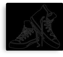 White Sneaker outline Canvas Print