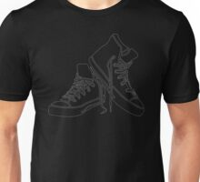 White Sneaker outline Unisex T-Shirt