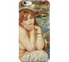 Renoir Auguste - Bather Seated On A Sand Bank iPhone Case/Skin