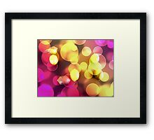 Lemons floating with bubbles  Framed Print