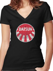Datsun Sun Women's Fitted V-Neck T-Shirt