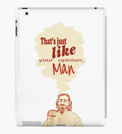 The Dude Does it Best iPad Case/Skin