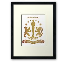 House Leo - Oscar is Ours Framed Print