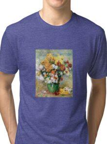 Renoir Auguste - Bouquet Of Chrysanthemums  Tri-blend T-Shirt