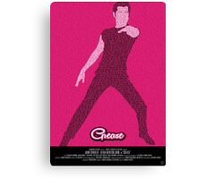 Grease Travolta - Movie Poster Canvas Print