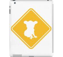 warning danger caution sign outback australia wildlife koalas animal protection conservation caution yellow iPad Case/Skin