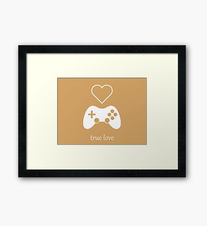 Video Gamer - True Love Framed Print