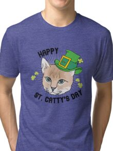 Happy St. Catty's day Tri-blend T-Shirt