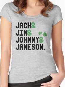Jack & Jim & Johnny & Jameson Women's Fitted Scoop T-Shirt