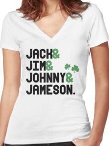Jack & Jim & Johnny & Jameson Women's Fitted V-Neck T-Shirt