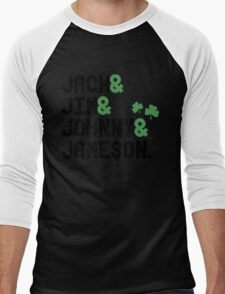 Jack & Jim & Johnny & Jameson Men's Baseball ¾ T-Shirt