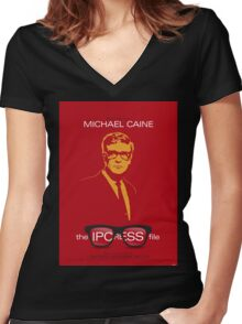 The Ipcress File - Movie Poster Women's Fitted V-Neck T-Shirt