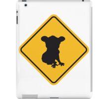 warning danger caution sign outback australia wildlife koalas animal protection conservation caution iPad Case/Skin