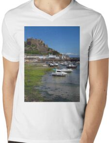 Mont Orgueil, Gorey, Jersey Mens V-Neck T-Shirt
