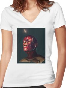 Muscle Head Women's Fitted V-Neck T-Shirt
