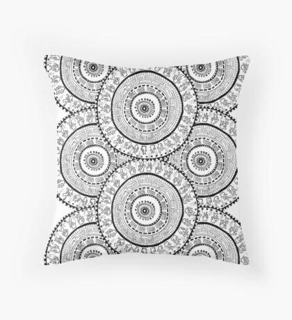 aztec cycles Throw Pillow