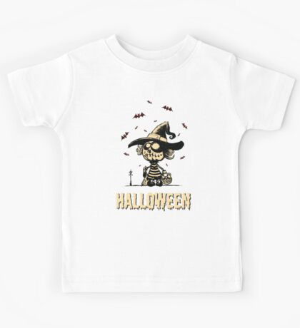 Halloween pumpkin girl Kids Tee