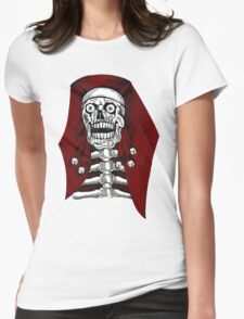 Egyptian Skeleton With Bells Womens Fitted T-Shirt