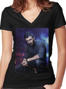 Chris Evans Moonlight Women's Fitted V-Neck T-Shirt