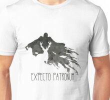 Expecto Patronum Stag Outline On Dementor Unisex T-Shirt