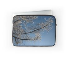 tree branch in the snow Laptop Sleeve