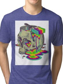 skull painted Tri-blend T-Shirt