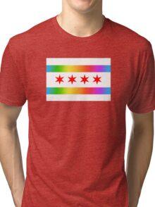 Chicago Pride Flag 2016 Tri-blend T-Shirt