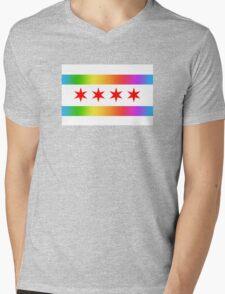 Chicago Pride Flag 2016 Mens V-Neck T-Shirt