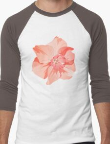 Pretty Pink Daffodil Graphic Men's Baseball ¾ T-Shirt