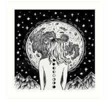 galaxy beings Art Print