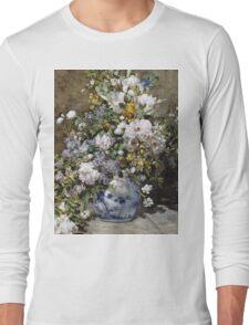 Renoir Auguste - Spring Bouquet Long Sleeve T-Shirt