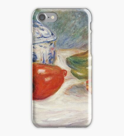 Renoir Auguste - Still Life With A Blue Sugar Bowl And Peppers iPhone Case/Skin