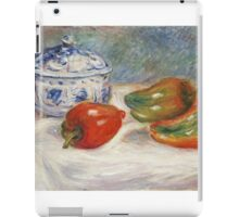 Renoir Auguste - Still Life With A Blue Sugar Bowl And Peppers iPad Case/Skin