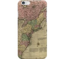American Revolutionary War Era Maps 1750-1786 348 Bowles's new pocket map of the United States of America the British possessions of Canada Nova Scotia and iPhone Case/Skin