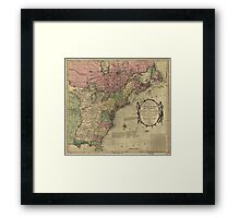 American Revolutionary War Era Maps 1750-1786 348 Bowles's new pocket map of the United States of America the British possessions of Canada Nova Scotia and Framed Print