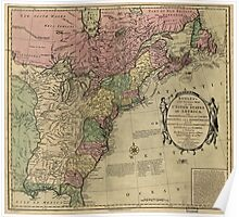 American Revolutionary War Era Maps 1750-1786 348 Bowles's new pocket map of the United States of America the British possessions of Canada Nova Scotia and Poster
