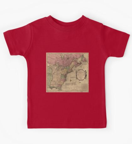 American Revolutionary War Era Maps 1750-1786 348 Bowles's new pocket map of the United States of America the British possessions of Canada Nova Scotia and Kids Tee