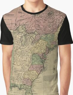American Revolutionary War Era Maps 1750-1786 348 Bowles's new pocket map of the United States of America the British possessions of Canada Nova Scotia and Graphic T-Shirt