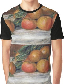 Renoir Auguste - Still Life With Apples And Oranges Graphic T-Shirt