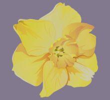 Yellow Spring Daffodil Graphic Kids Tee