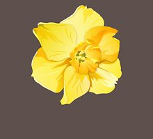 Yellow Spring Daffodil Graphic Womens Fitted T-Shirt