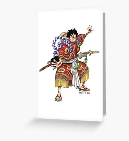 Kabuki Luffy Greeting Card