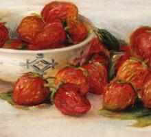 Renoir Auguste - Strawberries Sticker