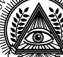 Illuminati New World Order Eye Triangle Sticker