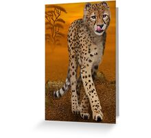 Cheetah In Africa Greeting Card