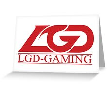 Team LGD Gaming logo Greeting Card