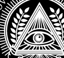 Illuminati New World Order Eye Triangle Black Sticker