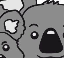 sweet little baby koala cute mamapapa child baby koala faces family heads Sticker