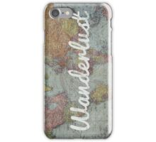Wanderlust on Vintage World Map iPhone Case/Skin