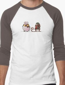 Pig and hedgehog Men's Baseball ¾ T-Shirt